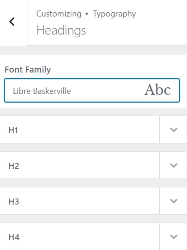 Customize fonts