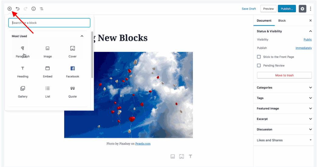 Website Block Editor