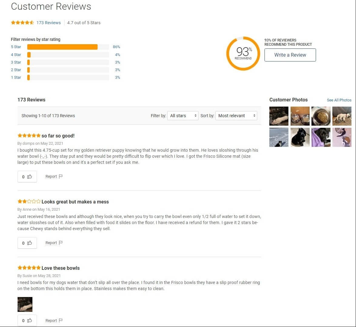 Chewy Customer Review