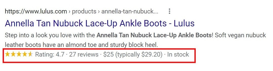 Common rich snippets
